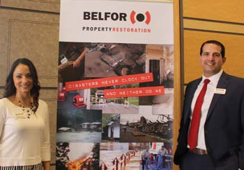 Jennifer and Stephen DeLillo, BELFOR Property Restoration and February 16 luncheon sponsor