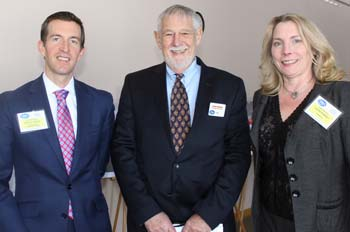 New members Cody Dolly, Holleran Group and Laura Ramsey, Insperity, with our own Roger Scheiber