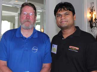Dick Neely, Vista Electrical Contractors and new member Tejash Patel, Firehouse Subs