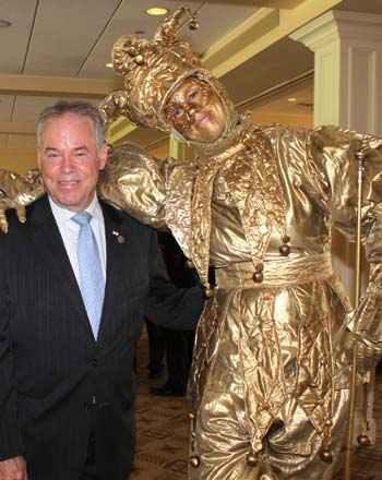 The Rockland County Executive got a special welcome from the RBA Anniversary Gold Jester