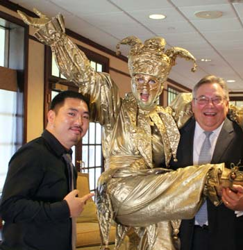 Michael Mui, Allstate and Greg Flotard, New York Life get a royal welcome
