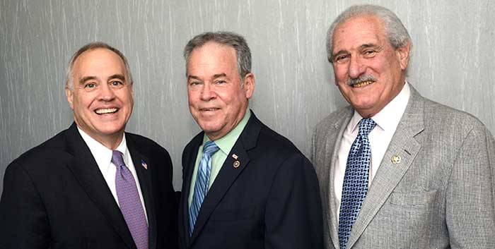 NYS Comptroller Thomas DiNapoli, Rockland Country Executive Ed Day and Al Samuels, RBA President/CEO