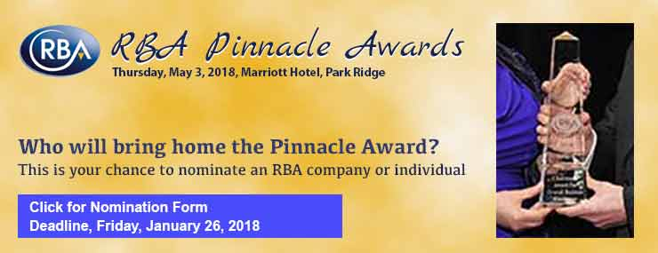 Accepting nominations for 2018 RBA Pinnacle Awards